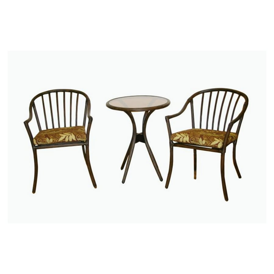 shop garden treasures 3 piece bistro patio furniture set at lowes com