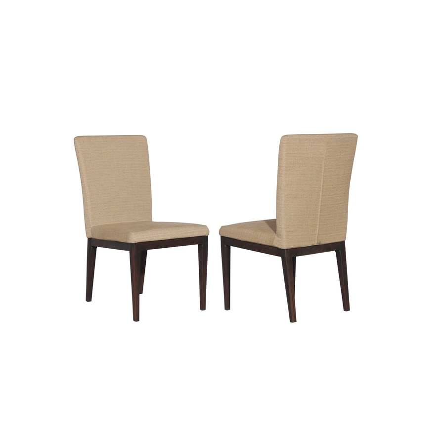 allen + roth Set of 2 Dellinger Brown Cushioned Seat Aluminum Patio Dining Chairs
