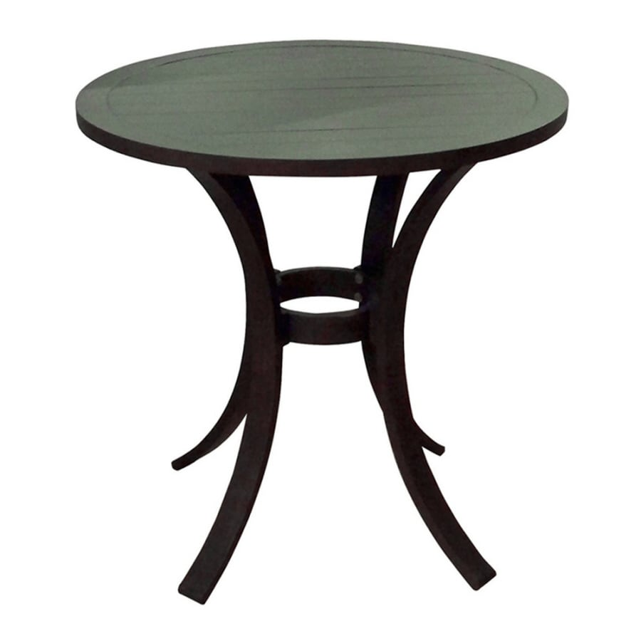 allen + roth Dellinger 30-in x 30-in Aluminum Round Patio Dining Table