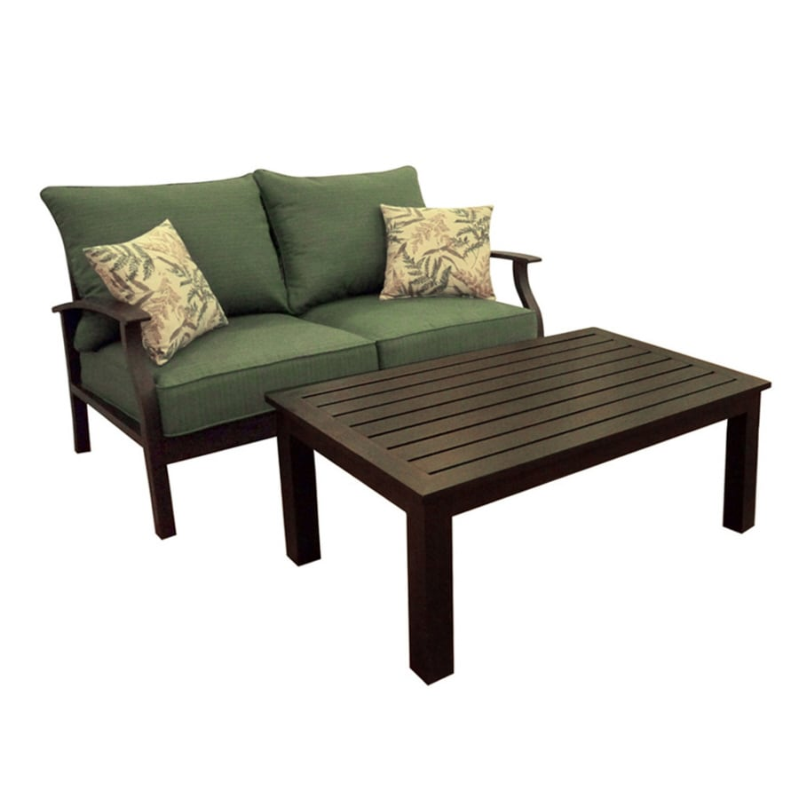 Aluminum Patio Coffee Table: Shop Allen + Roth 2-Piece Eastfield Aluminum Patio