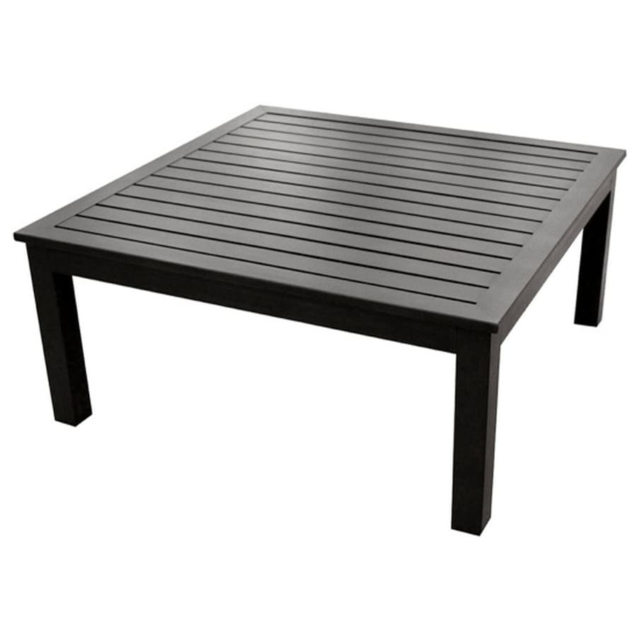 Shop Allen Roth Gatewood 40 In W X 40 In L Square Aluminum Coffee Table At