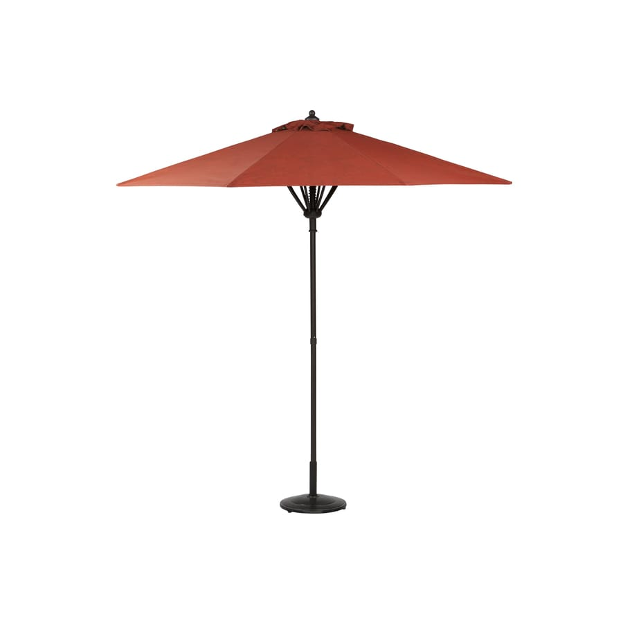 Garden Treasures Hayden Island Round Red Market Umbrella with Pulley (Actual: 8.83-ft x 8.83-ft)
