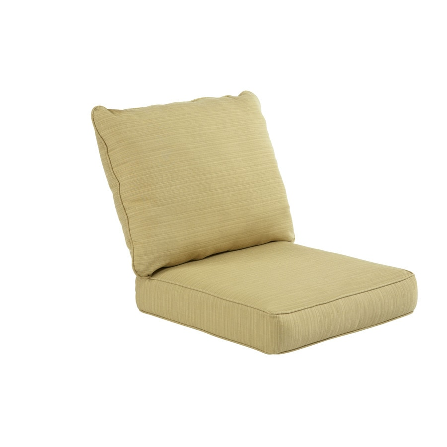 shop allen roth sunbrella dupione bamboo deep seat patio chair cushion at. Black Bedroom Furniture Sets. Home Design Ideas