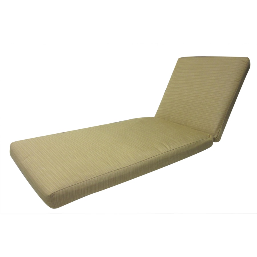 allen + roth Sunbrella Dupione Bamboo Patio Chaise Lounge Cushion