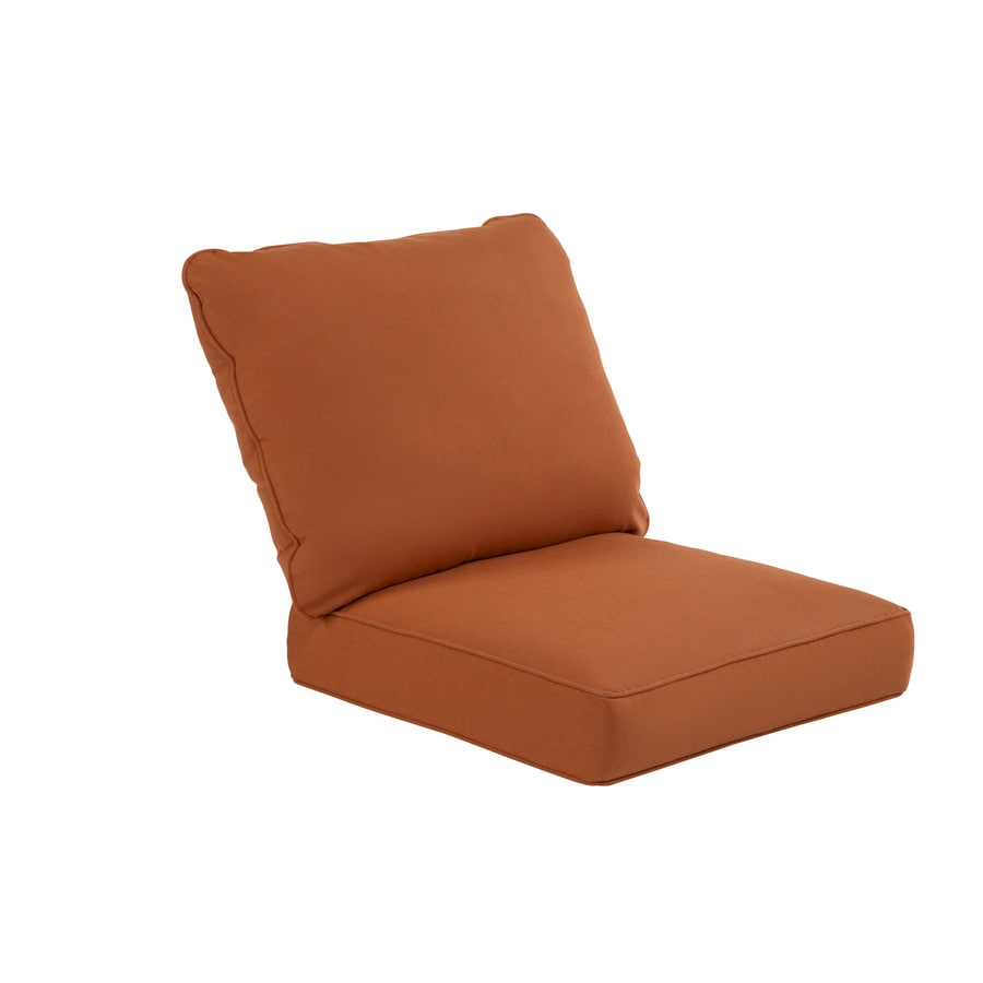 shop sunbrella sunbrella rust deep seat patio chair cushion at. Black Bedroom Furniture Sets. Home Design Ideas