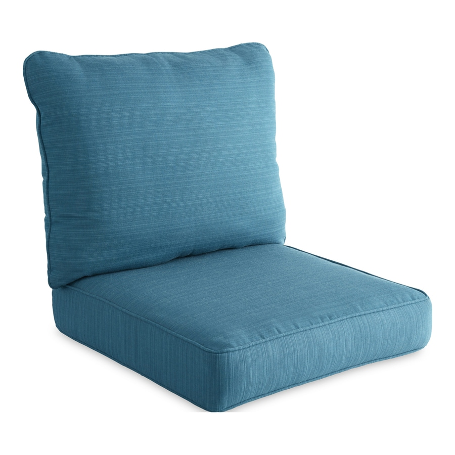 Allen + Roth Sunbrella Deep Sea Texture Cushion For Deep Seat Chair