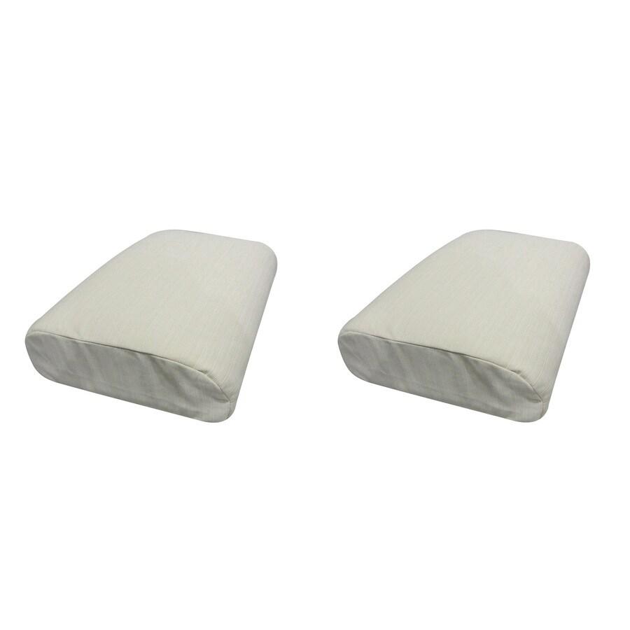 Sunbrella Set of 2 Pearl Ottoman Cushions