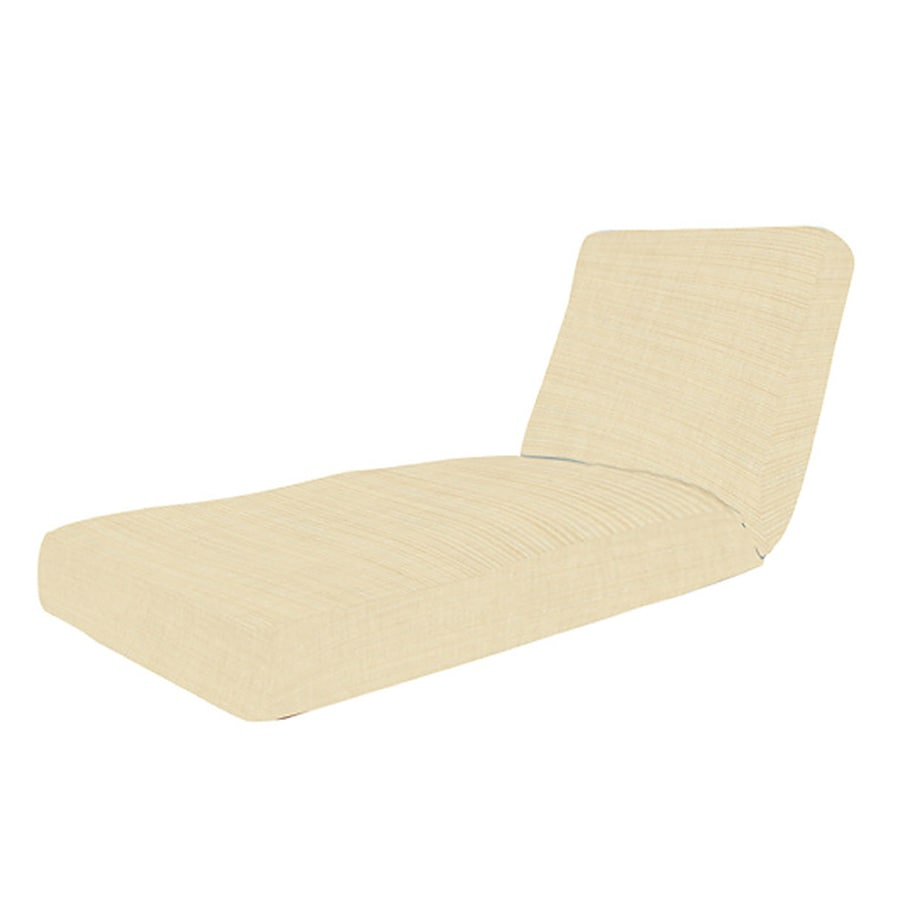 Sunbrella 75-in L x 25.75-in W Pearl Patio Chaise Lounge Cushion