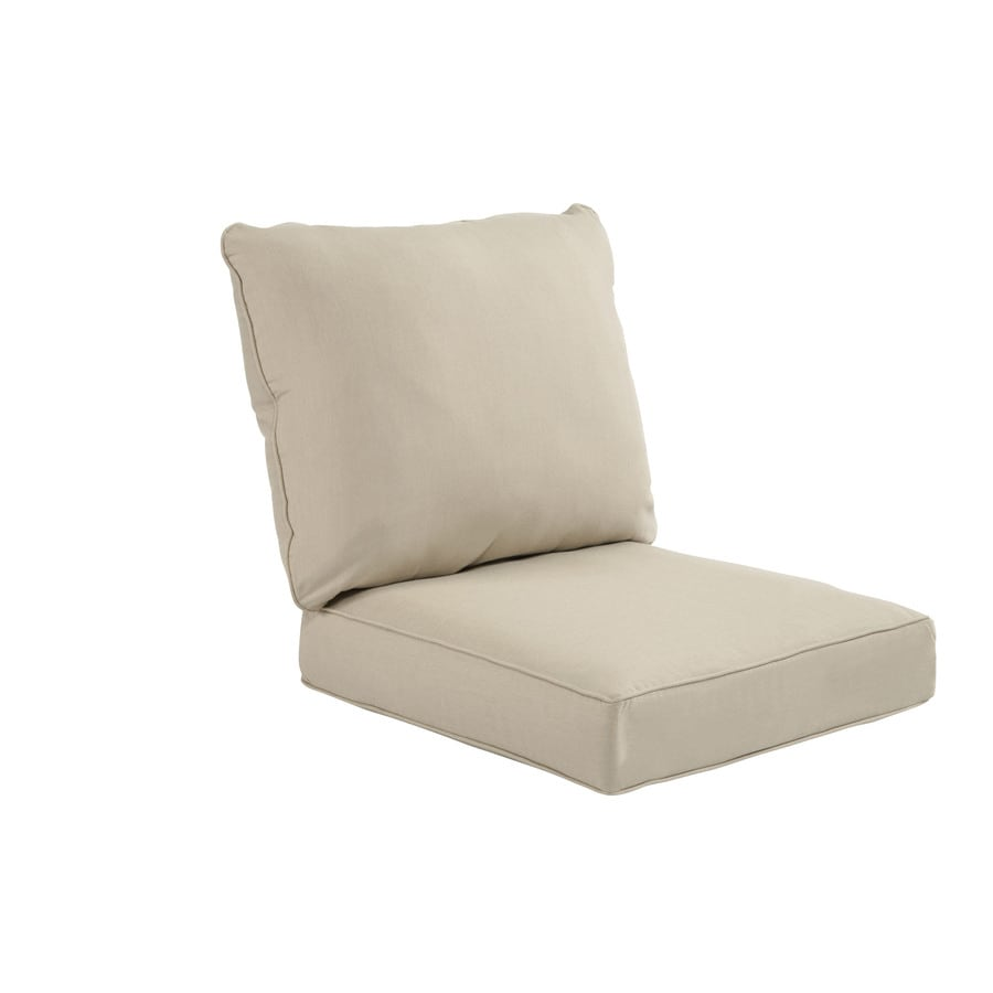 allen + roth Sunbrella Spectrum Sand Deep Seat Patio Chair Cushion