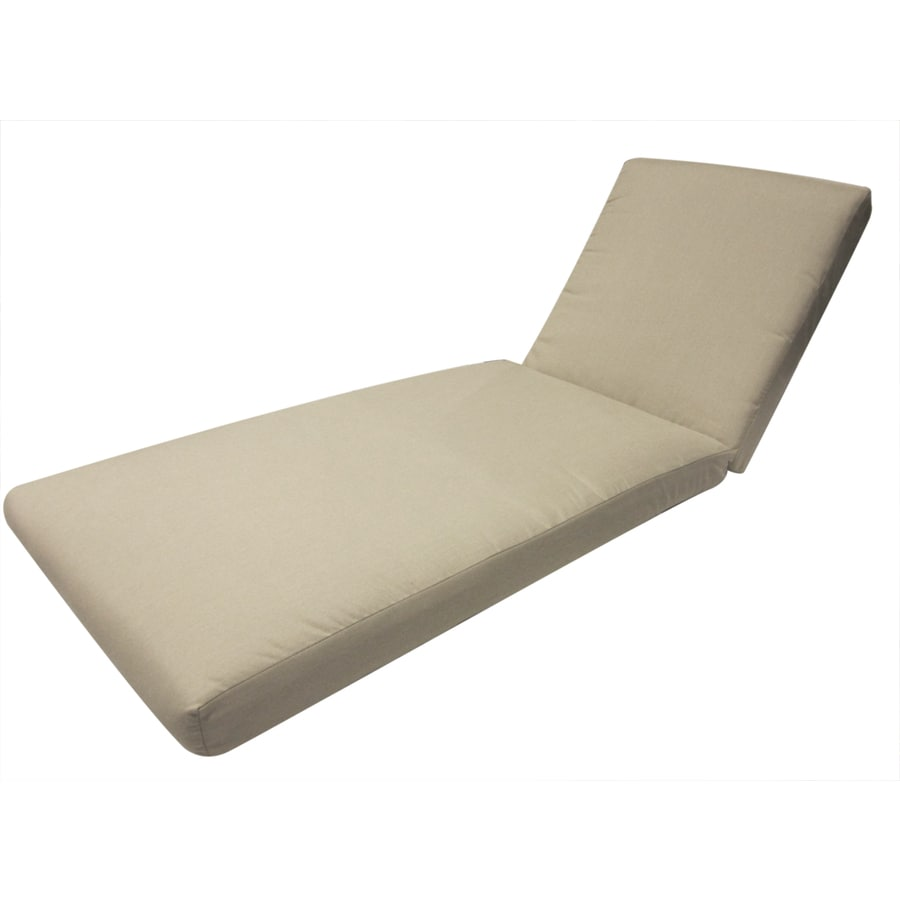 allen + roth Sunbrella Spectrum Sand Patio Chaise Lounge Cushion
