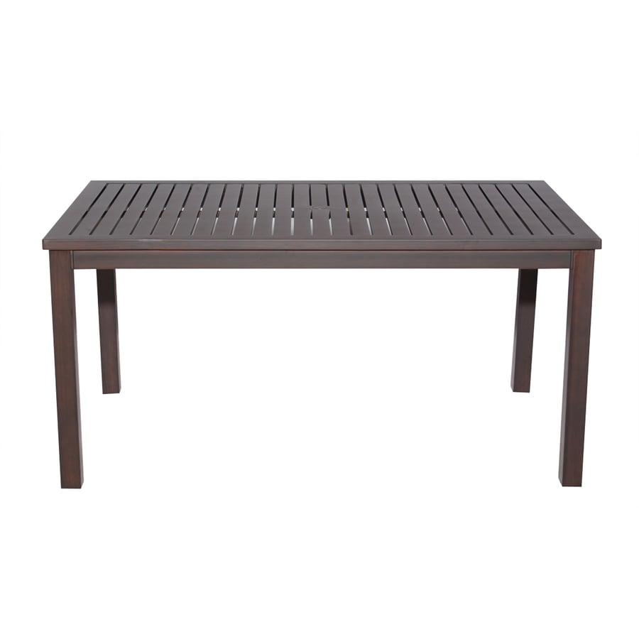 allen + roth Gatewood 41.85-in W x 75.83-in L Rectangle Aluminum Dining Table