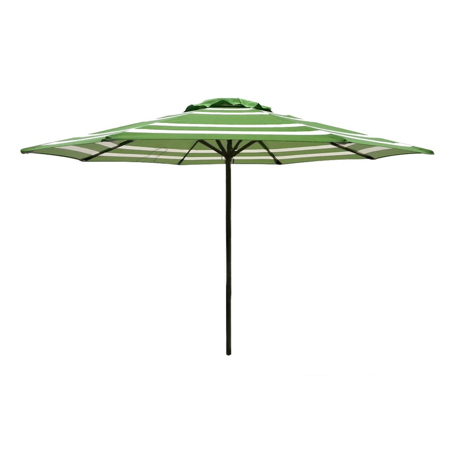Garden Treasures Round Green Patio Umbrella (Common: 90-in x 90-in; Actual: 90.55-in x 90.55-in)