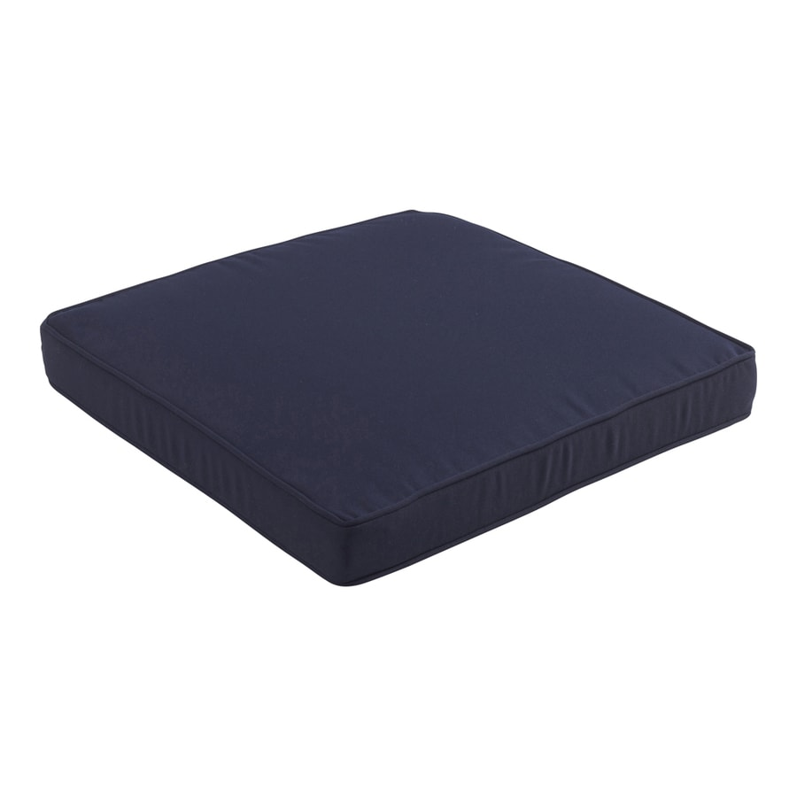 allen + roth Sunbrella Canvas Navy Solid Cushion For Universal