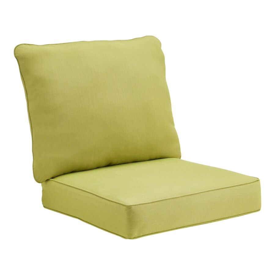 Shop Sunbrella Sunbrella Spectrum Kiwi Solid Cushion For Deep Seat ...
