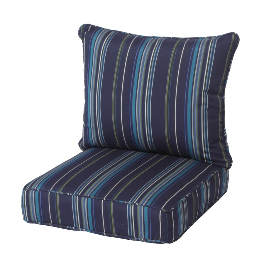 Sunbrella Sunbrella Stanton Lagoon Stripe Cushion For Deep Seat Chair