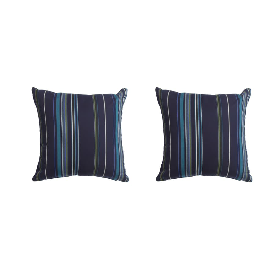 Decorative Pillows 2 Pack : Shop Sunbrella 2-Pack Stanton Lagoon Stripe Square Throw Outdoor Decorative Pillow at Lowes.com