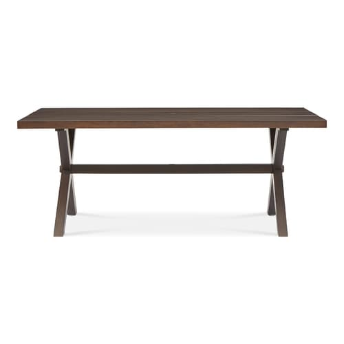 Surprising Allen Roth Atworth Rectangle Dining Table 42 In W X 76 In L With Umbrella Hole At Lowes Com Creativecarmelina Interior Chair Design Creativecarmelinacom