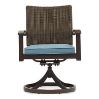 Lowes.com deals on 2 Allen + Roth Atworth Metal Swivel Dining Chair w/Cushioned Seat