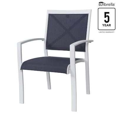 Amazing Everchase Set Of 4 Stackable Metal Stationary Dining Chair S With Solid Blue Sunbrella Sling Seat Spiritservingveterans Wood Chair Design Ideas Spiritservingveteransorg