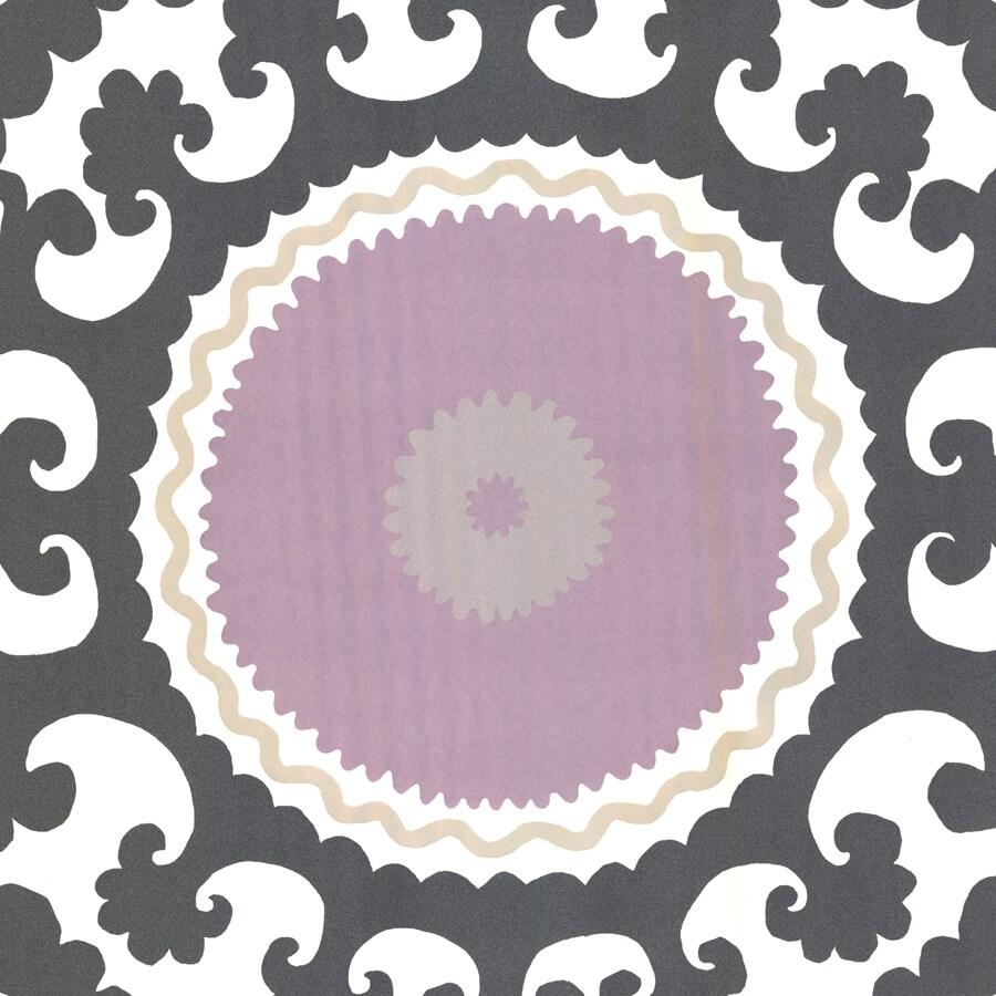 Brewster Wallcovering Purple Non-Woven Geometric Wallpaper