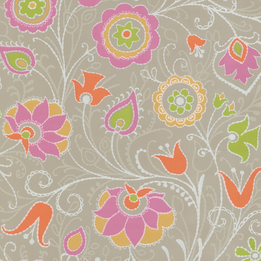 Brewster Wallcovering Orchid Non-Woven Floral Wallpaper