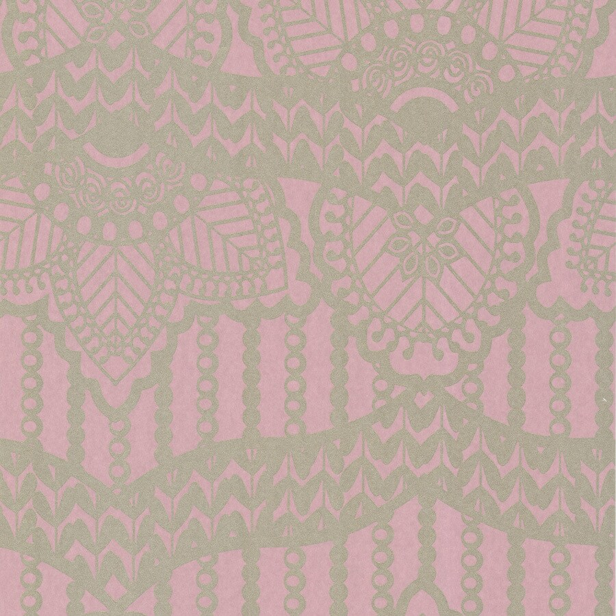 Brewster Wallcovering Pink Non-Woven Abstract Wallpaper