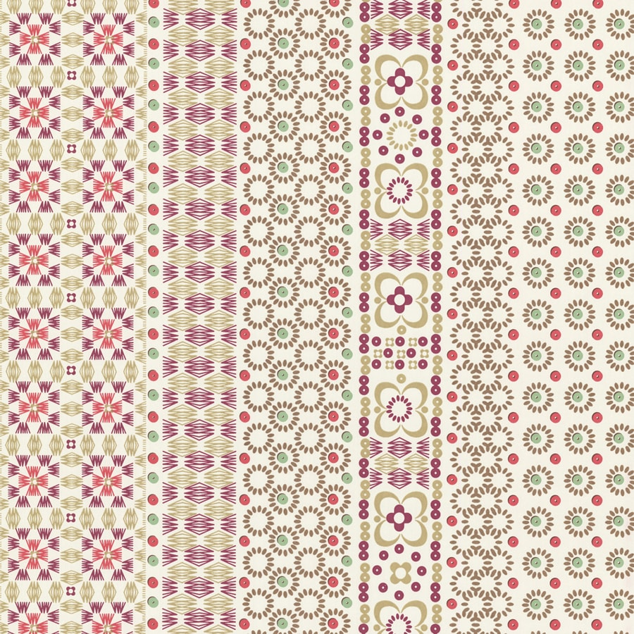 Brewster Wallcovering Berry Paper Stripes Wallpaper