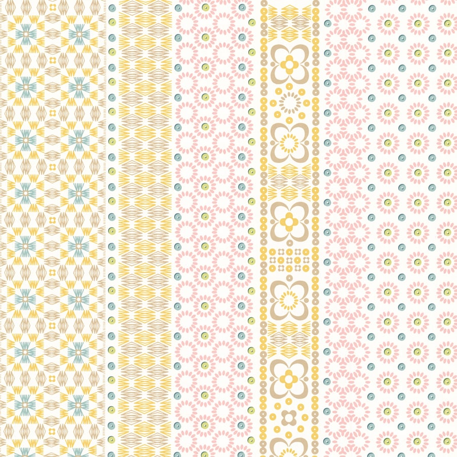 Brewster Wallcovering Pink Non-Woven Stripes Wallpaper
