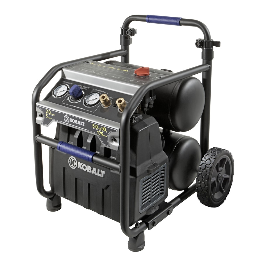 Kobalt 5 Gallon Portable 175 Psi Electric Twin Stack Air Compressor