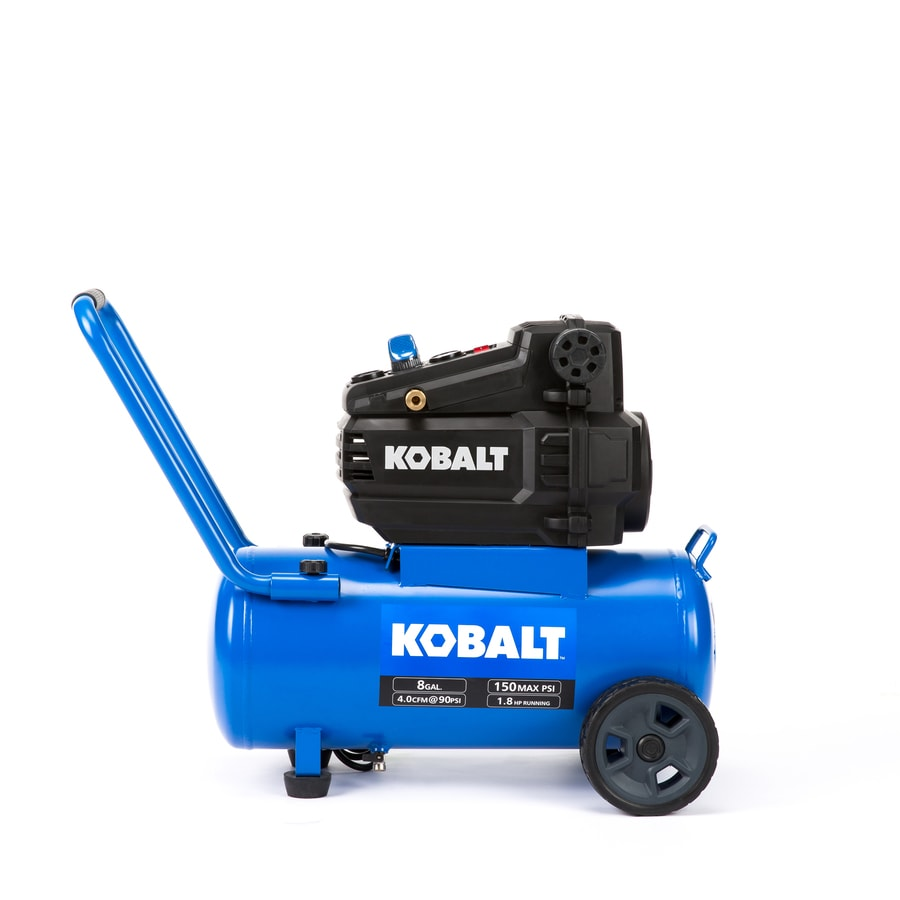 Kobalt 8 Gallon Portable 150 Electric Horizontal Air