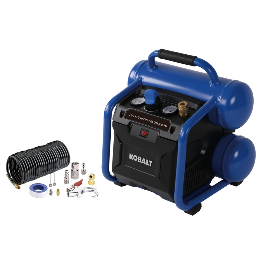Kobalt 2 Gallon Portable Electric Twin Stack Air Compressor