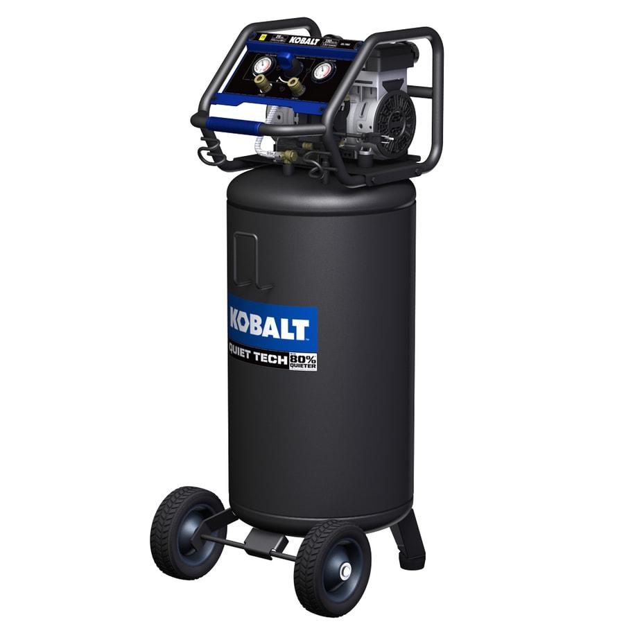 871613009489 kobalt quiet tech 26 gallon portable electric vertical air