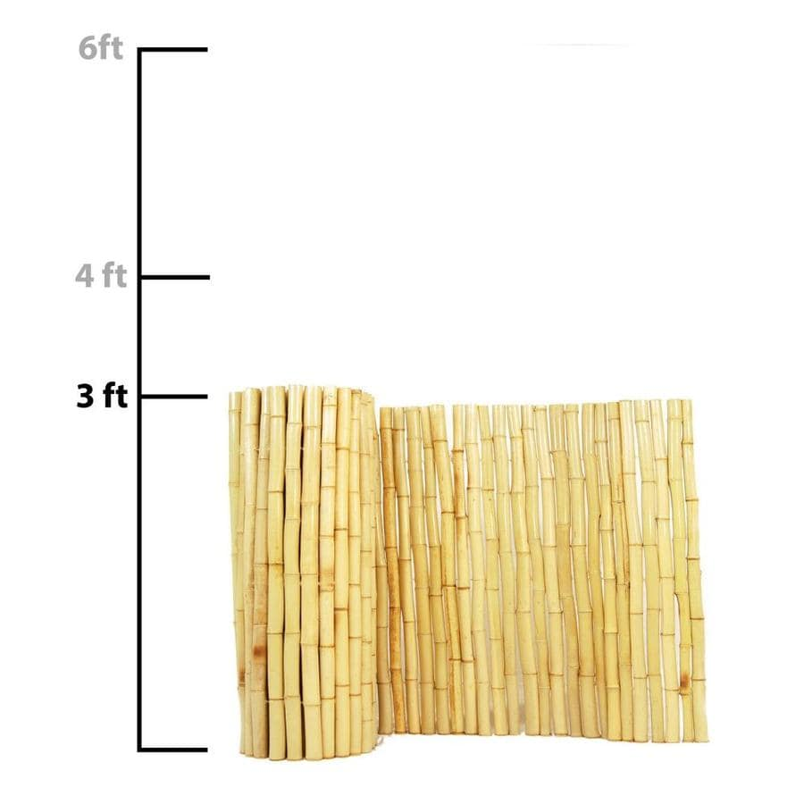 Backyard X Scapes Actual 8 Ft 3 Natural Bamboo Fencing Rolled