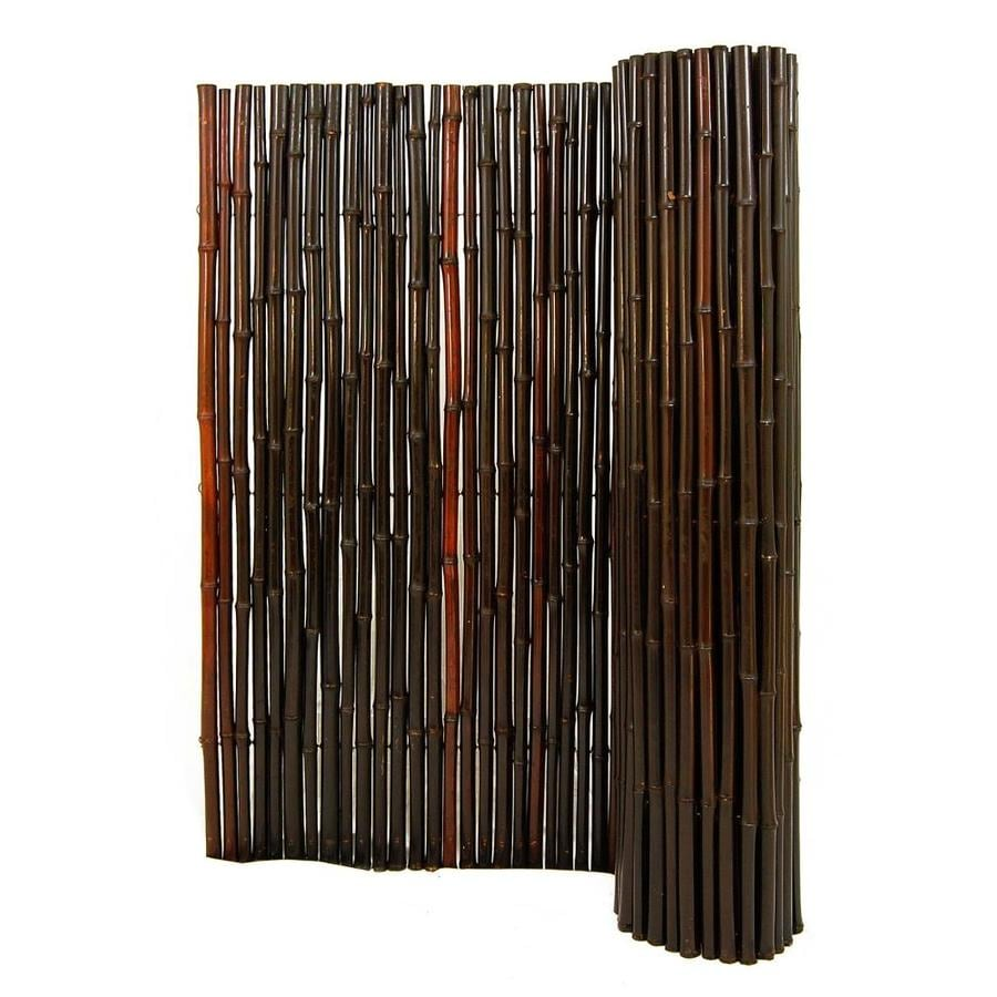 Shop backyard x scapes 96 in w x 72 in h mahogany bamboo for Outdoor roll up privacy screens