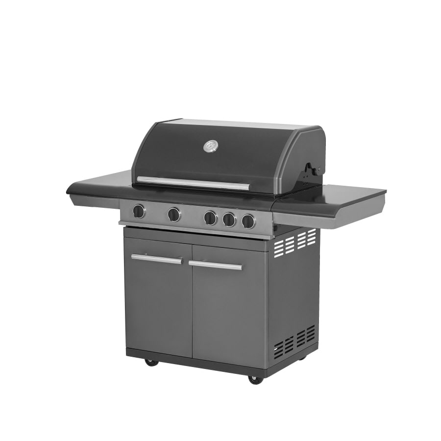 Master Forge 4 Burner Gas Grill With 2 Side Burners At