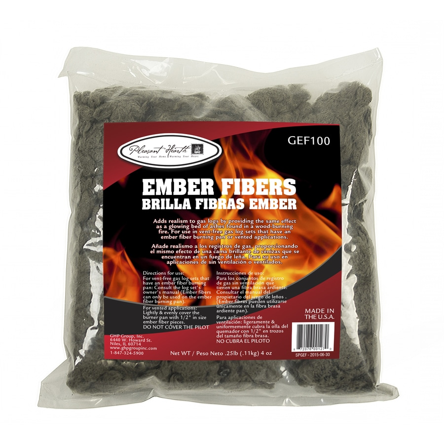 Shop pleasant hearth glowing fiber embers in the gas fireplace log accessories section of Lowes.com
