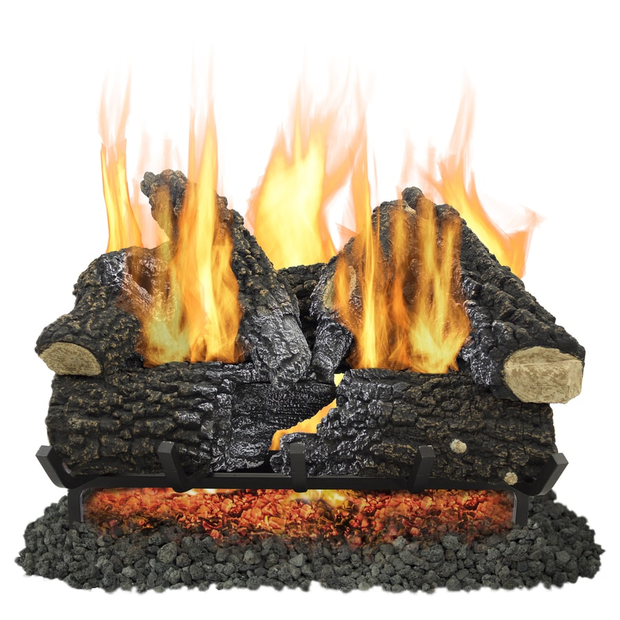 Shop pleasant hearth 24-in 55000-btu dual-burner vented gas fireplace logs in the gas fireplace logs section of Lowes.com