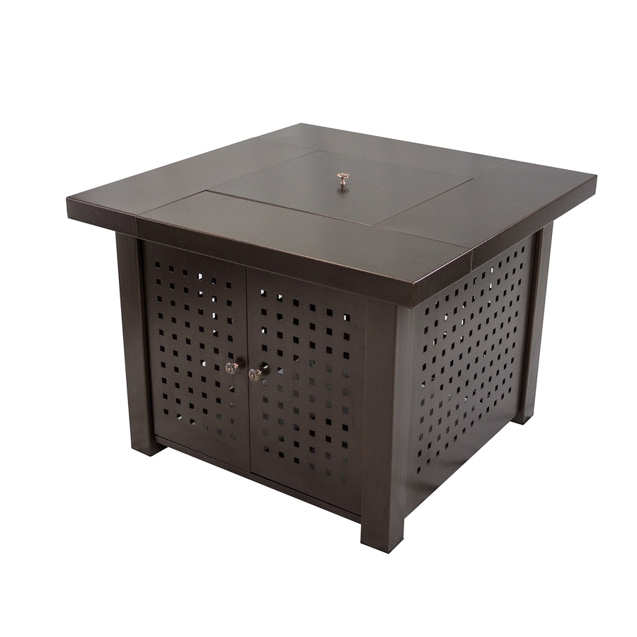 Pleasant Hearth 38-in W 40000-BTU Hammered Bronze Steel Propane Gas Fire Table