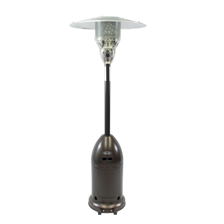 Dyna-Glo 48000-BTU Hammered Bronze Steel Floorstanding Liquid Propane Patio Heater