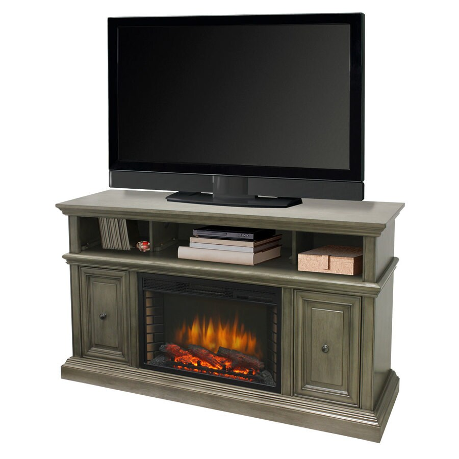 Muskoka 58-in W 4600-BTU Dark Weathered Gray Wood Veneer Fan-Forced Electric Fireplace with Thermostat and Remote