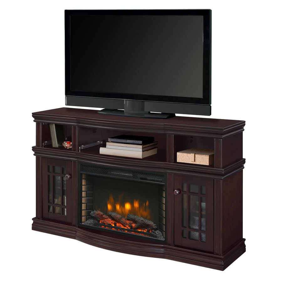 Muskoka 56-in W 4600-BTU Espresso Wood Veneer Fan-Forced Electric Fireplace with Thermostat and Remote