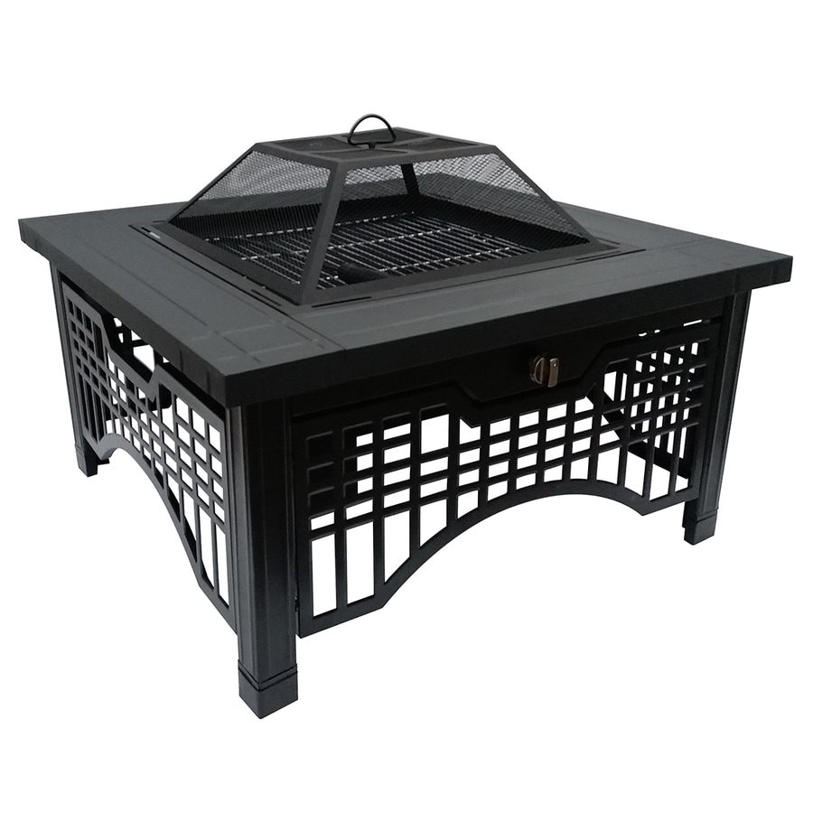 Shop wood burning fire pits at lowes pleasant hearth inches w wood burning fire pit geotapseo Choice Image