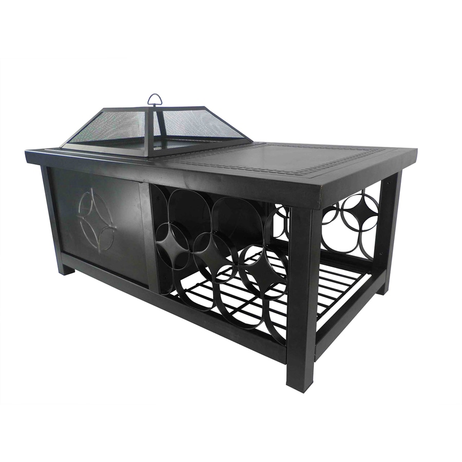 Pleasant Hearth 48-in W Rubbed Bronze Steel Wood-Burning Fire Pit