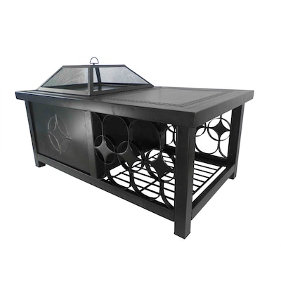 W Rubbed Bronze Steel Wood Burning Fire Pit