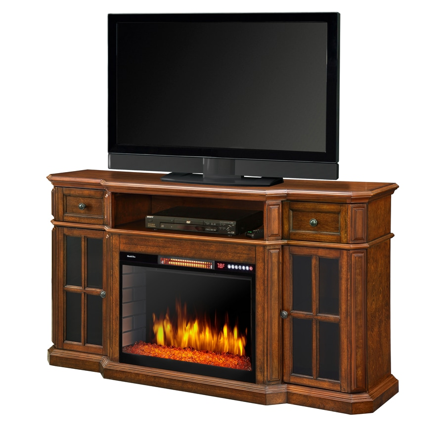 Muskoka 60-in W 4600-BTU Aged Cherry Wood Veneer Fan-Forced Electric Fireplace with Thermostat and Remote