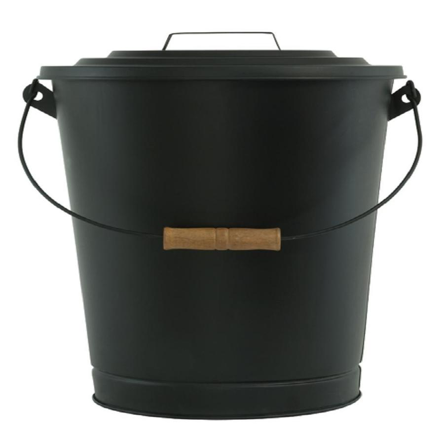 Pleasant Hearth Black Steel Ash Bucket at Lowe