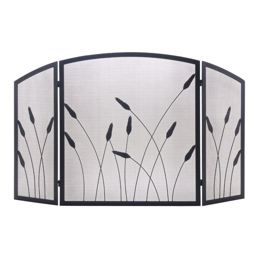Allen Roth 3 Panel Reeds Black Fireplace Screen At Lowes Com