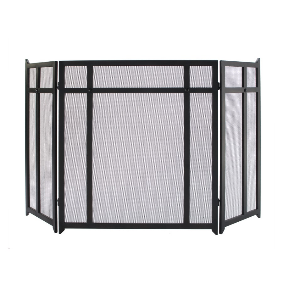 Shop allen + roth 3-panel craftsman fireplace screen at Lowes.com