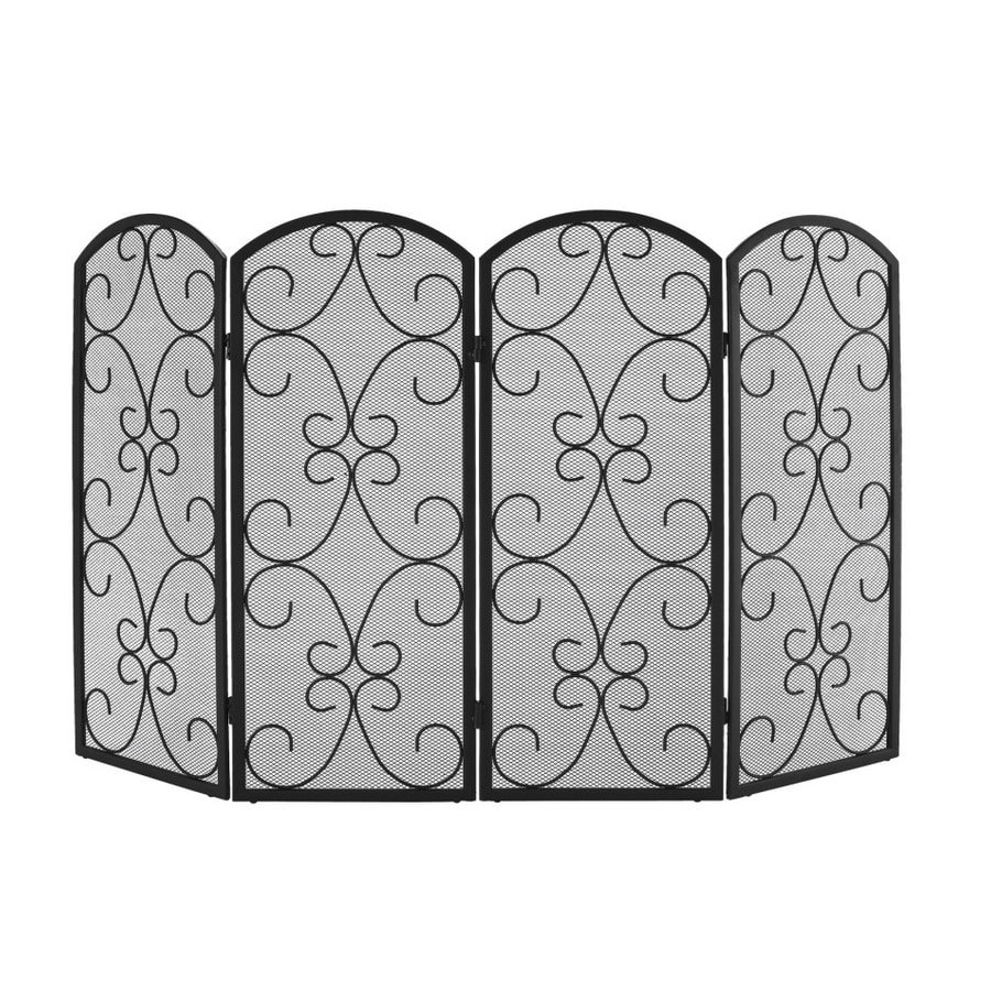 Shop Style Selections 4 Panel Scroll Fireplace Screen at Lowescom