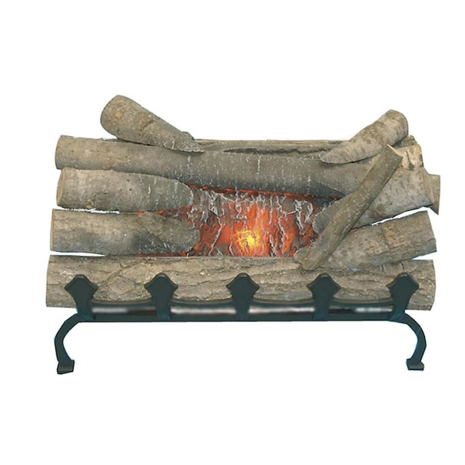 Pleasant Hearth 20 In W Natural Wood Electric Fireplace Logs In